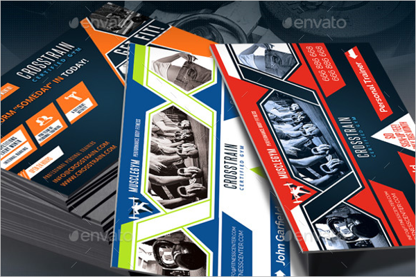 Gym Trainer Business Card Template