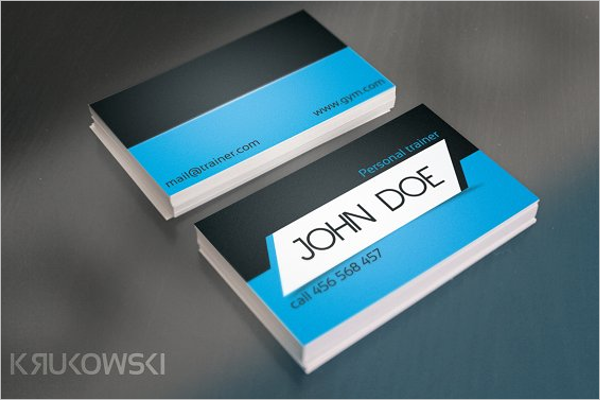 GymTrainer Visiting Card Template