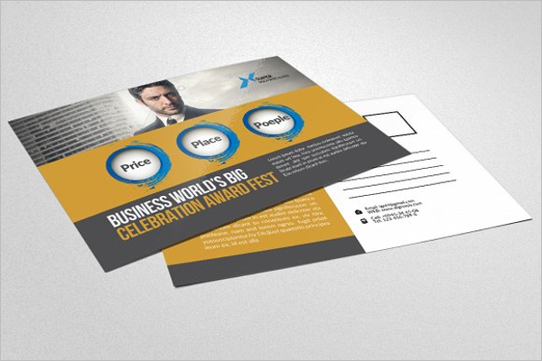 HR Consulting Business Postcard Design