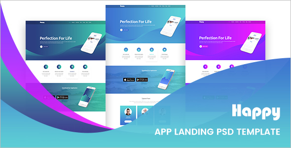 HTML5 Landing Page PSD Template