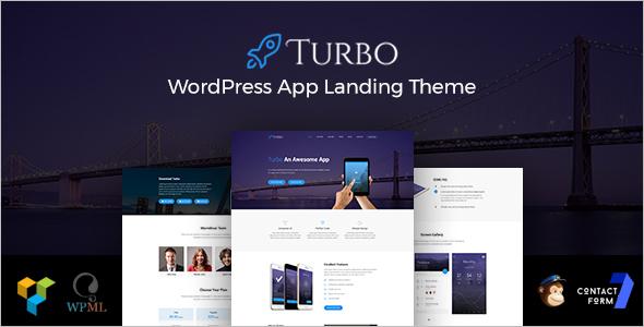 HTML5 Landing Page WordPress Theme