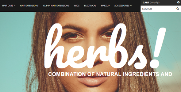 Hair Care Products Store PrestaShop Theme