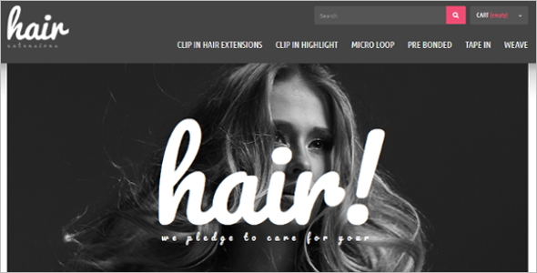 Hair Extensions Salon PrestaShop Theme