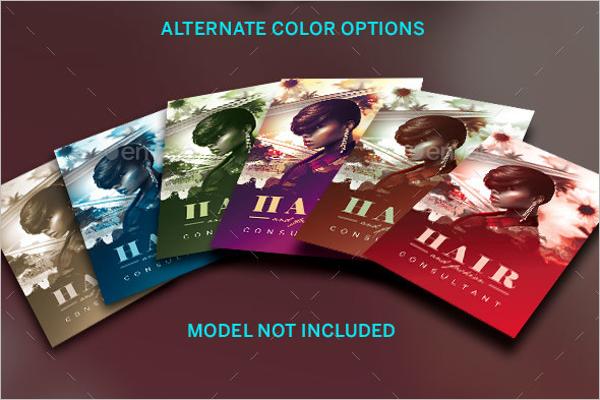 Hair Fashion Business Card Template