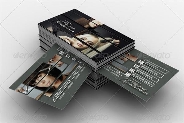 Hairdresser Salon Business Card Template