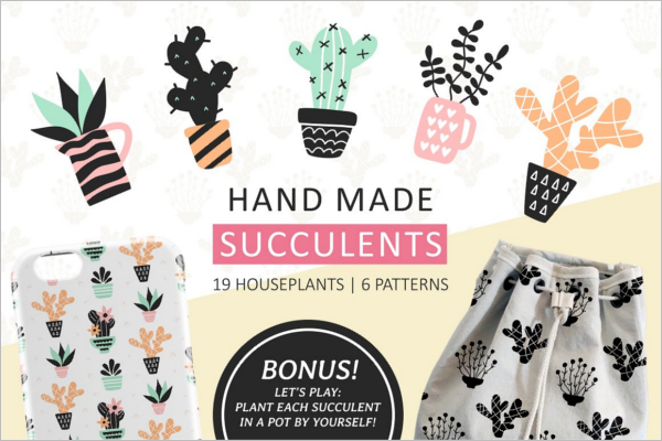 Hand Made Seamless Pattern