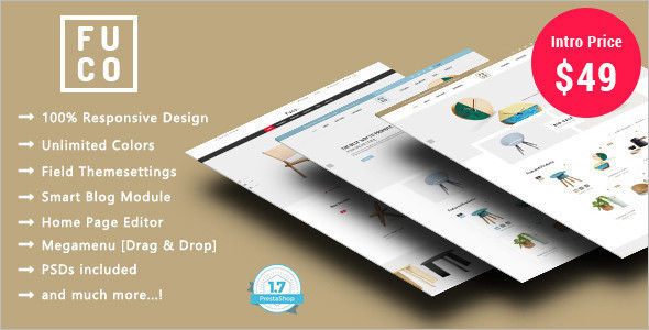 Handmade Furniture Prestashop Theme