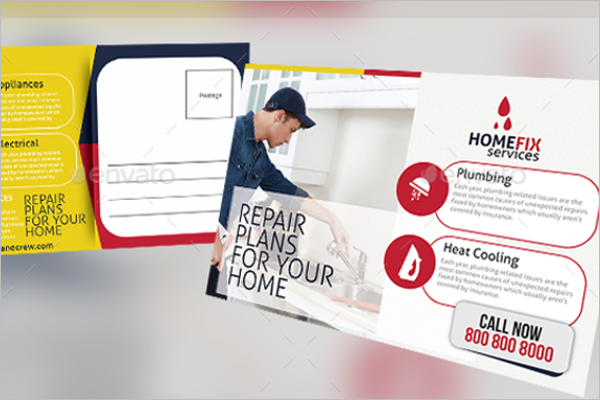 Handyman Services Postcard Template