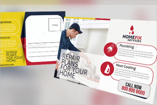 Handyman Services Postcard Template