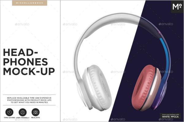 Headphones Mockup Design