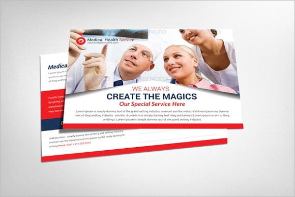 Health Service Postcard Design