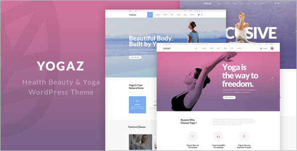 Health Yoga WordPress Theme