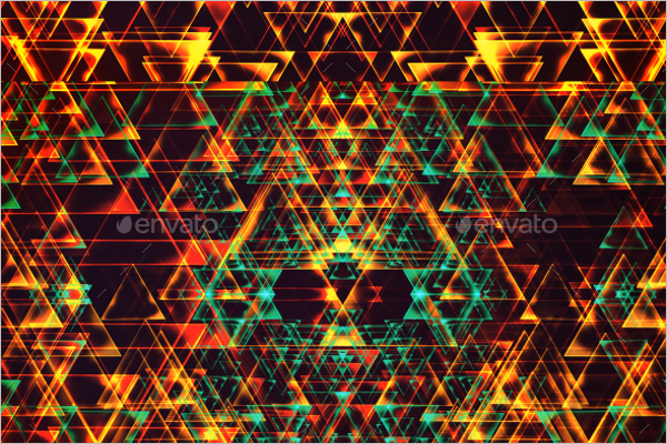 High Resolution Geometric Triangle Template