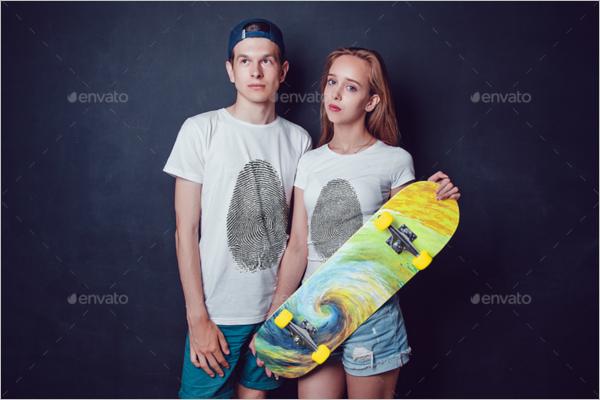 High ResolutionSkateboard Mockup Design