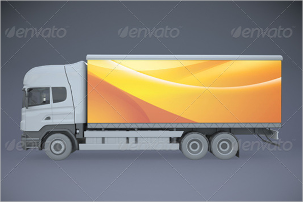 High Resolution Truck Mockup Template