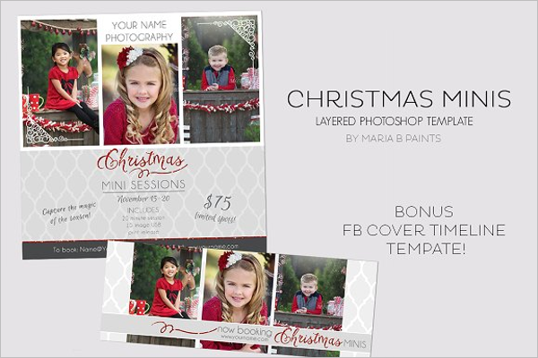 Holiday Mini Christmas Cover Template