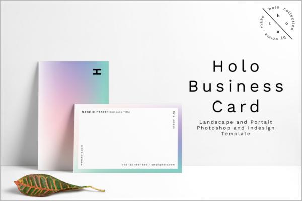 Holo Business Card Design
