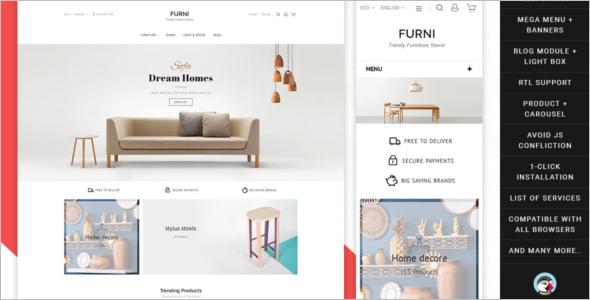 Home Furniture Store Prestashop Theme