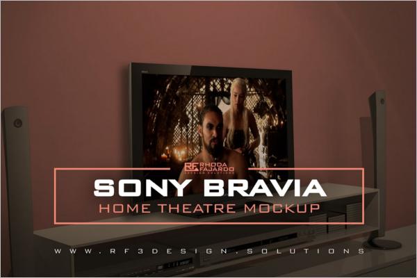 Home Theatre Mockup