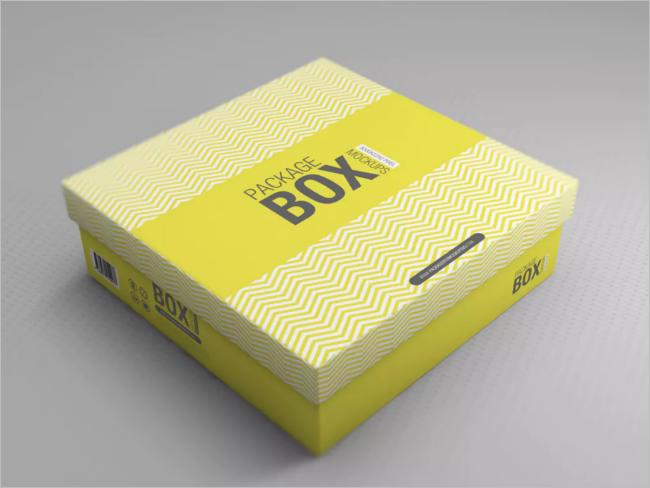 Hot Dog Tray Box Photoshop Mock-up