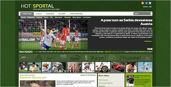Hot Sportal WordPress Template