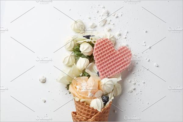 Ice Cream Cone Post Card Template