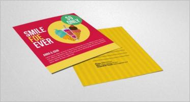 Ice Cream Post Card Templates