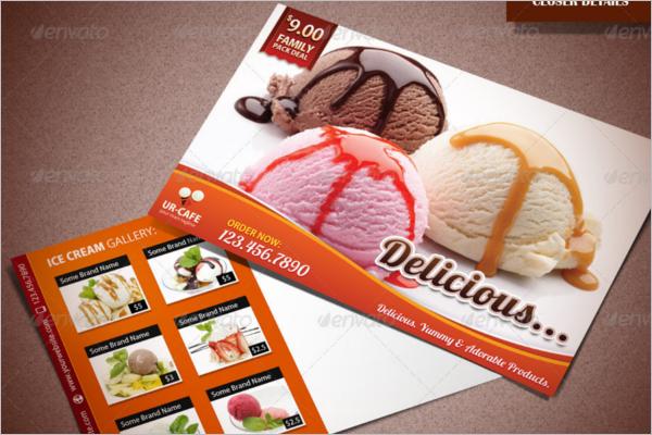 Ice Cream Shop Marketing Postcard