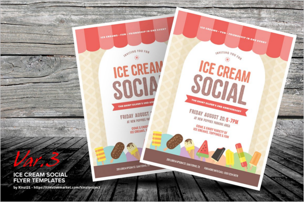 Ice Cream Social Template