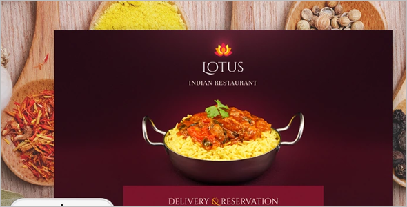 Indian Restaurant Landing Page Template