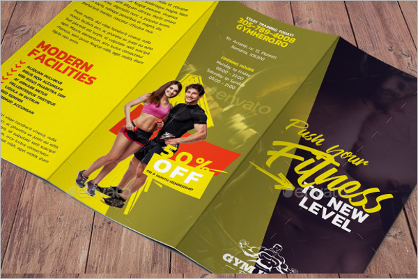 Informational GYM Brochure Template