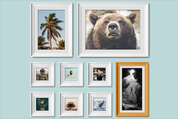 Instant Photo Frame Template