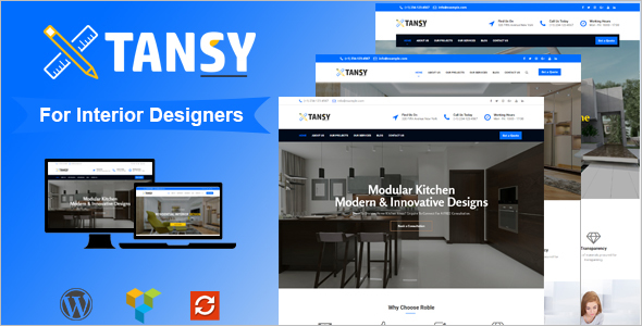 Interior Design Agency WordPress Theme Download Live Preview