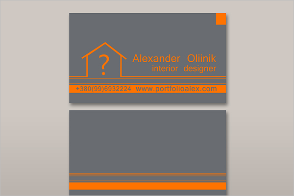 Interior Estate Business Card