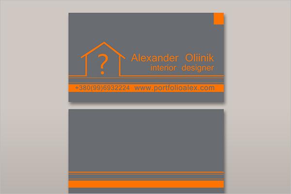 Interior Estate Business Card