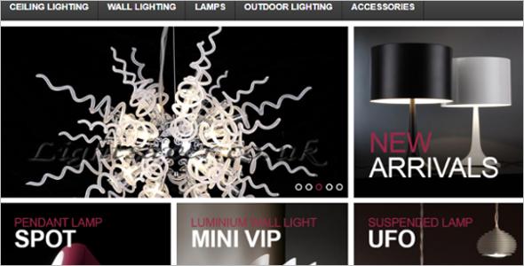 Interior Light Design VirtueMart Template