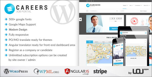 Job Portal & Candidates WordPress Theme