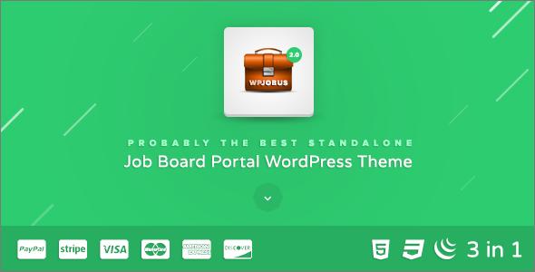 Job Resumes WordPress Theme