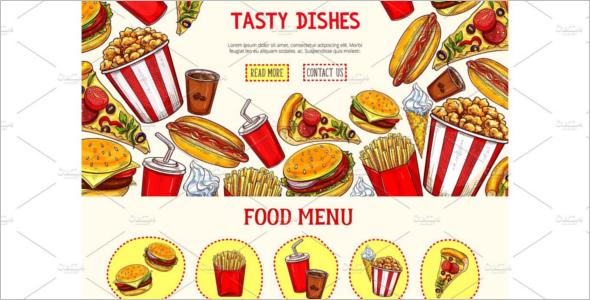 Junk Food Landing Page Template