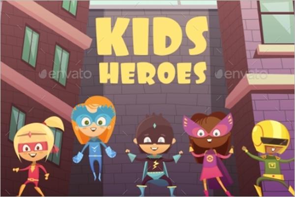 Kids Superheroes Cartoon Design