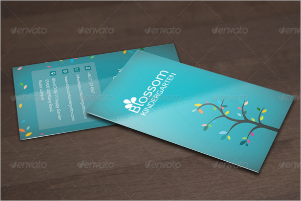 Kindergarten Business Card Template