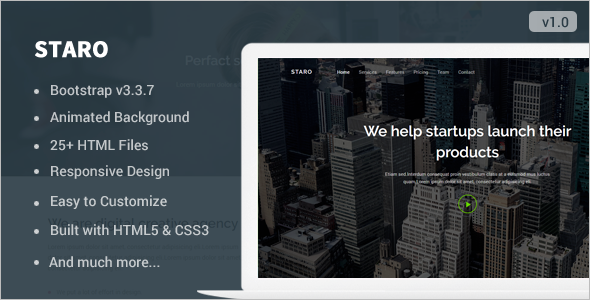 Landing page BootstrapTemplate