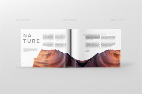 Landscape Magazine Mockup Design