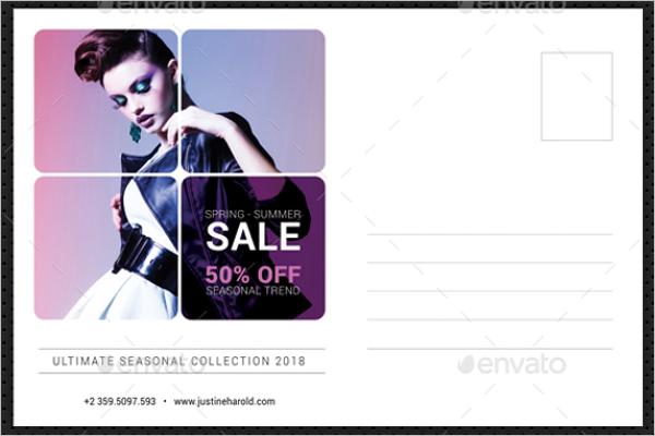 Latest Fashion Postcard Template