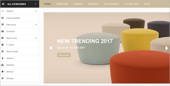 Latest Furniture Store PrestaShop Theme