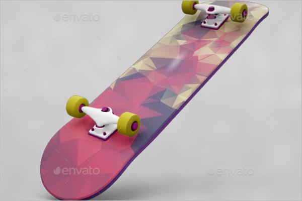 Latest Skateboard Mockup Design