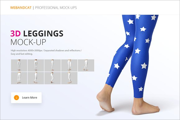 Leggings Mockup Template