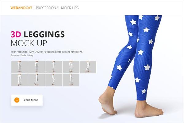 Leggings Mockup Template