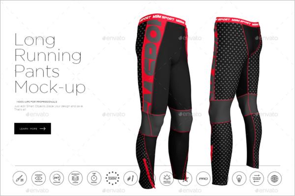 Long Running Legging Mockup Design