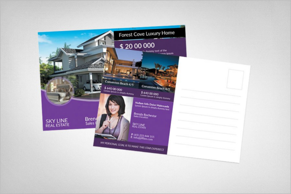 Luxury Home Postcard Template
